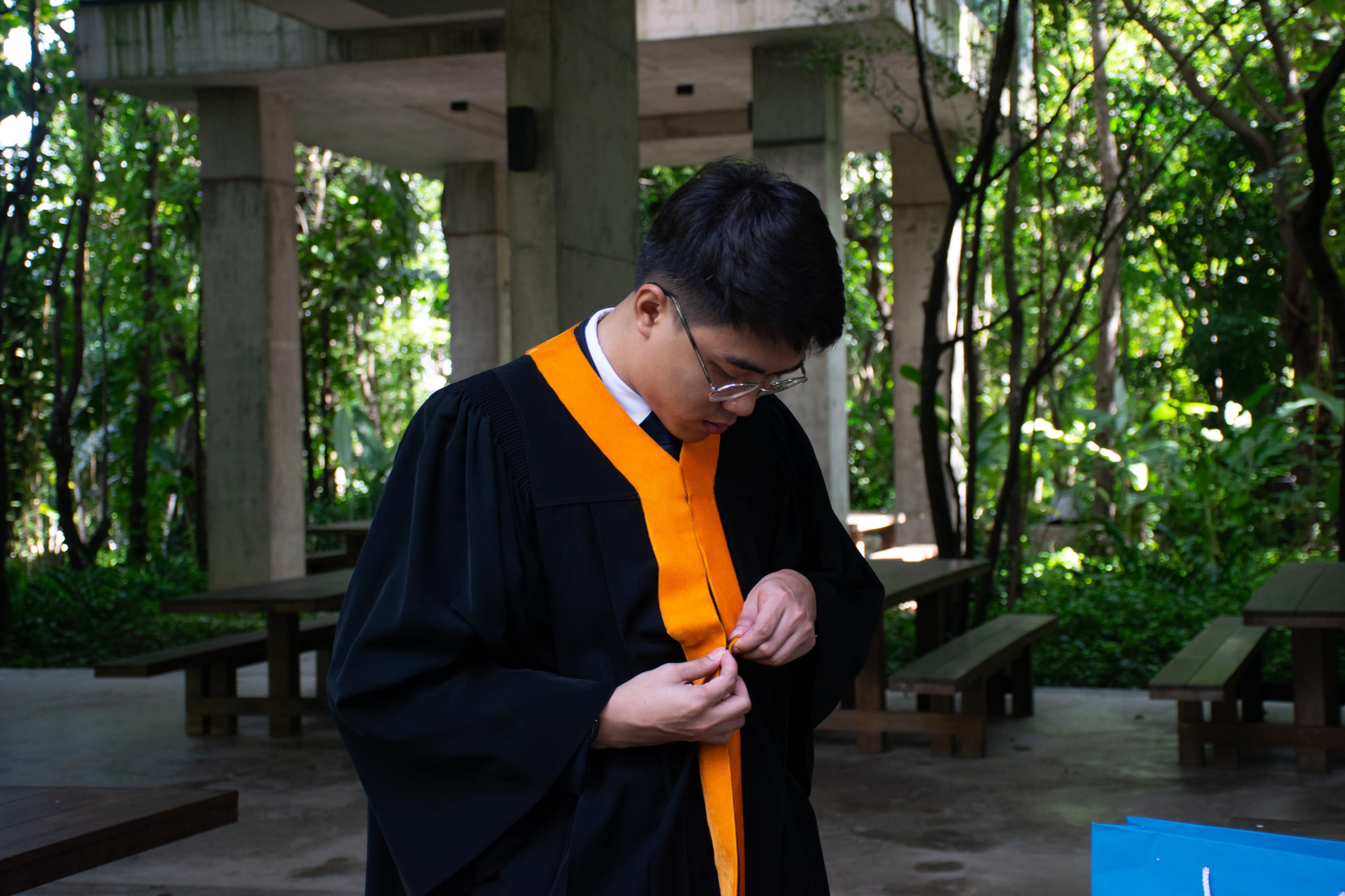 Wearing Graduation Grown