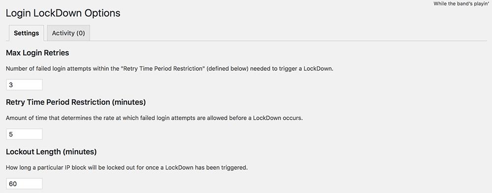Wordpress Security Login LockDown