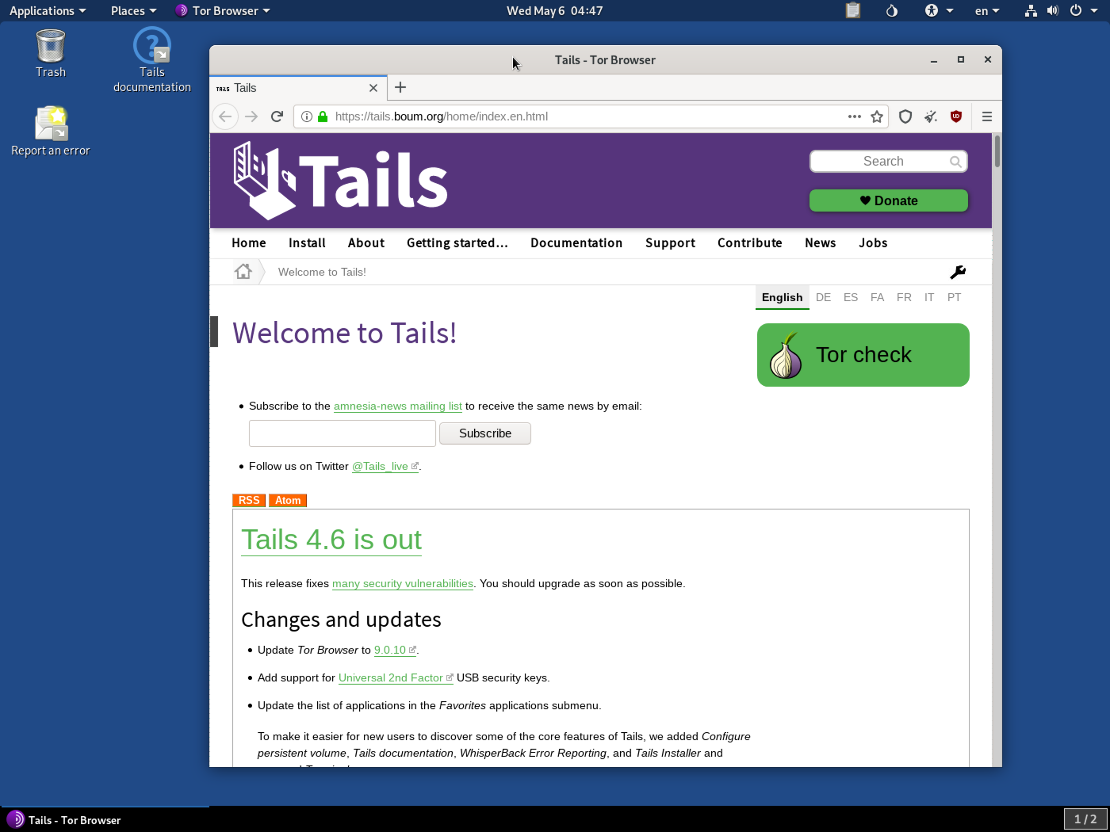 Trails Linux