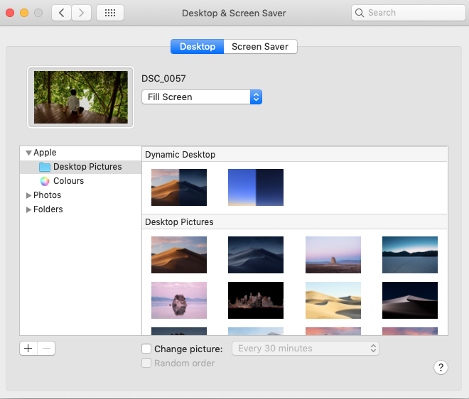 macOS Mojave Dynamic Desktop Config
