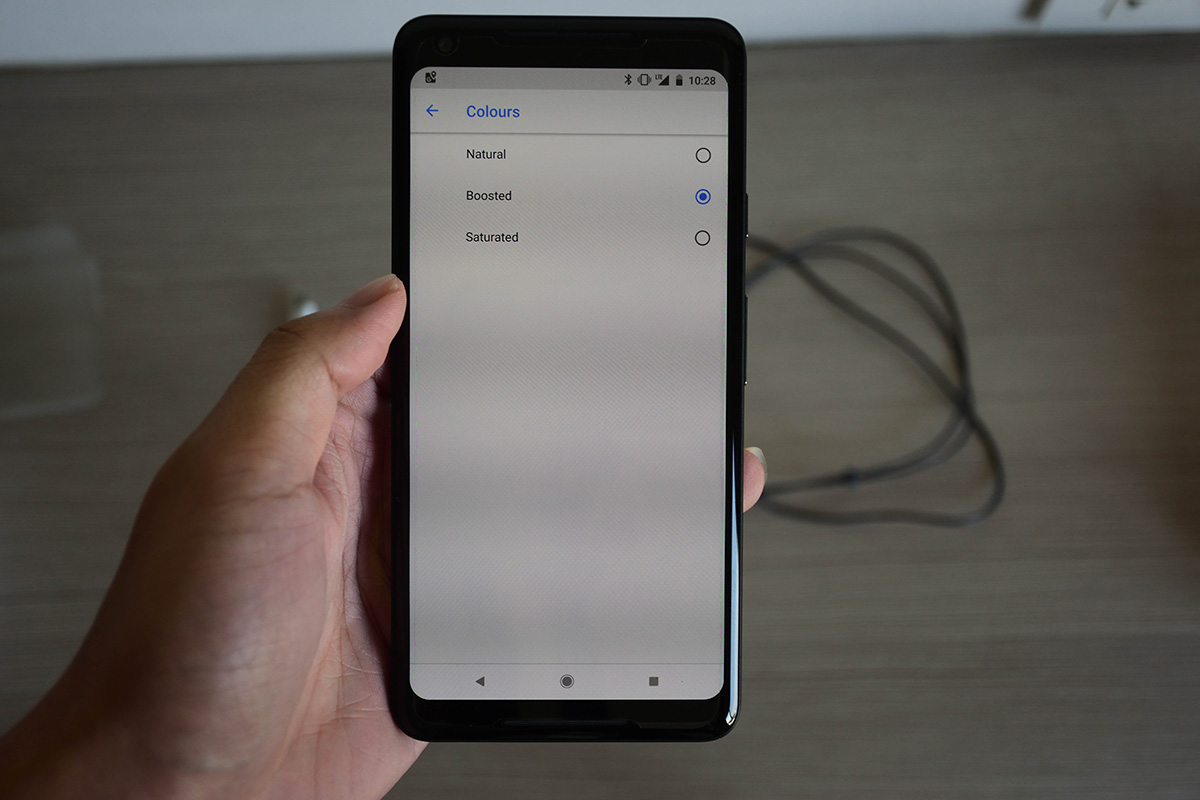 Google Pixel 2 XL Screen Colour Setting