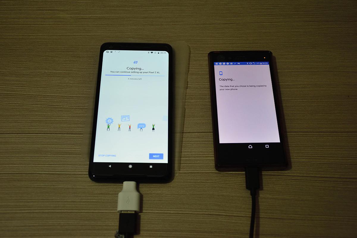 Google Pixel 2 XL USB OTG Transfer Data