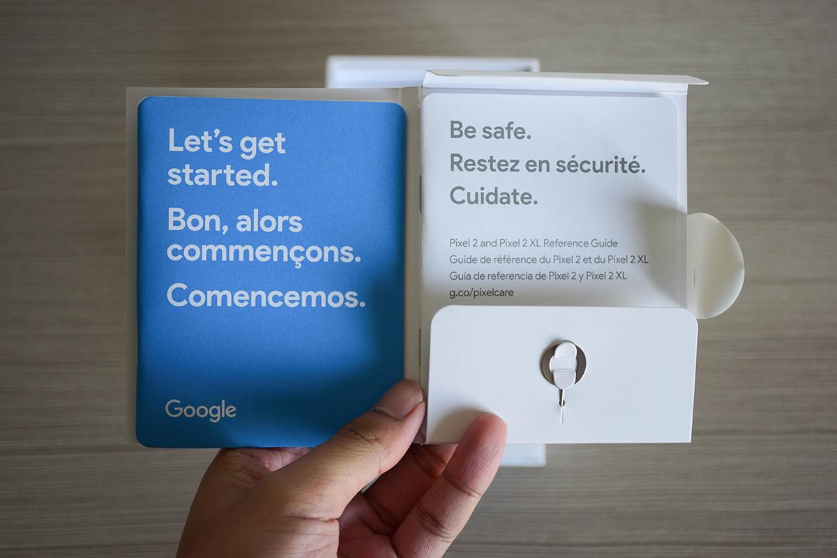 Google Pixel 2 XL Paper Work