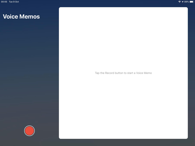 iOS 12 Voice Memo App