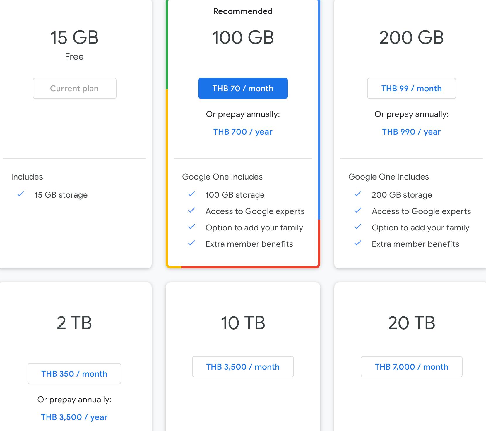 Google Drive Storage Price