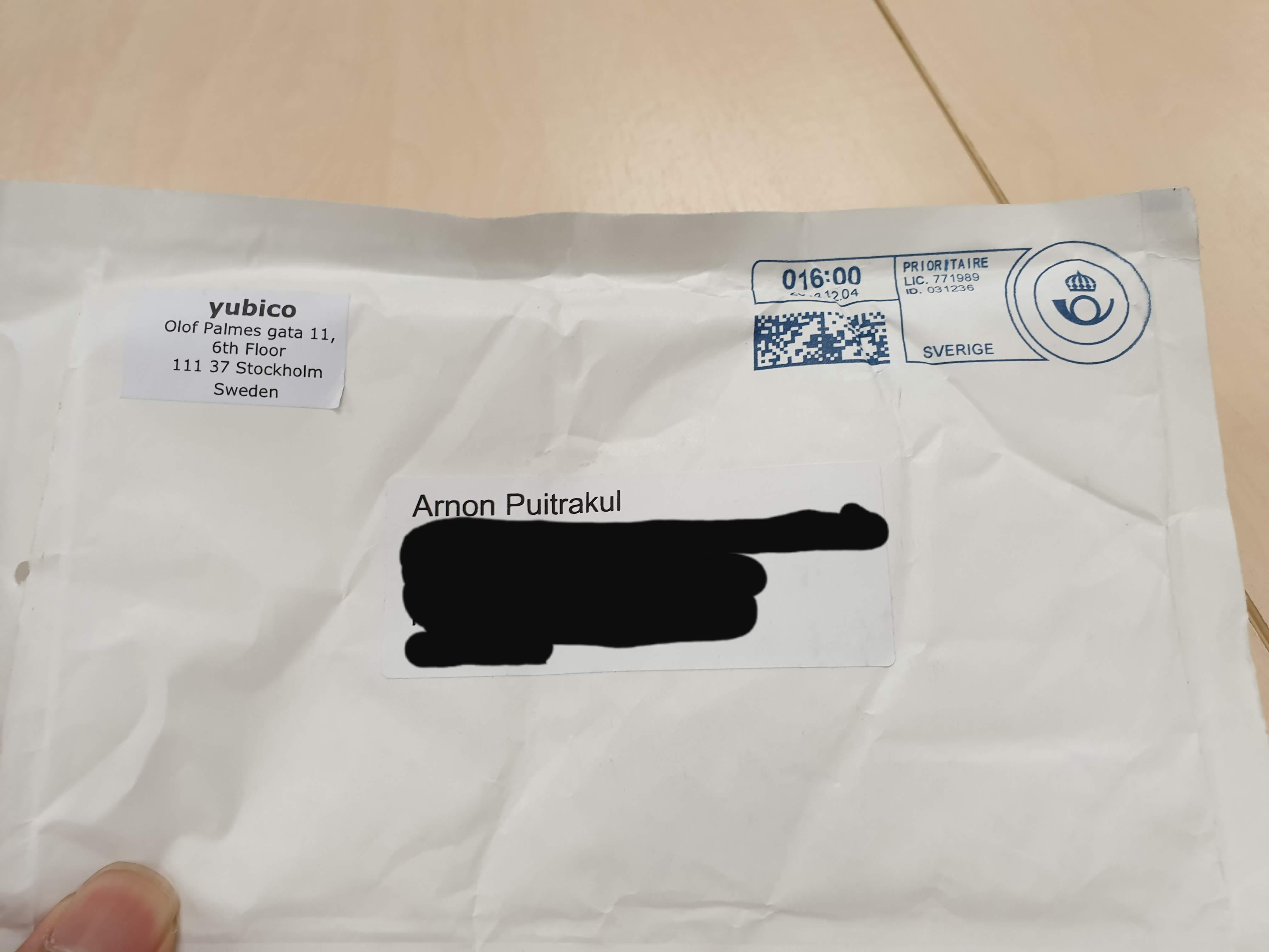 Yubikey 5 NFC Envelope