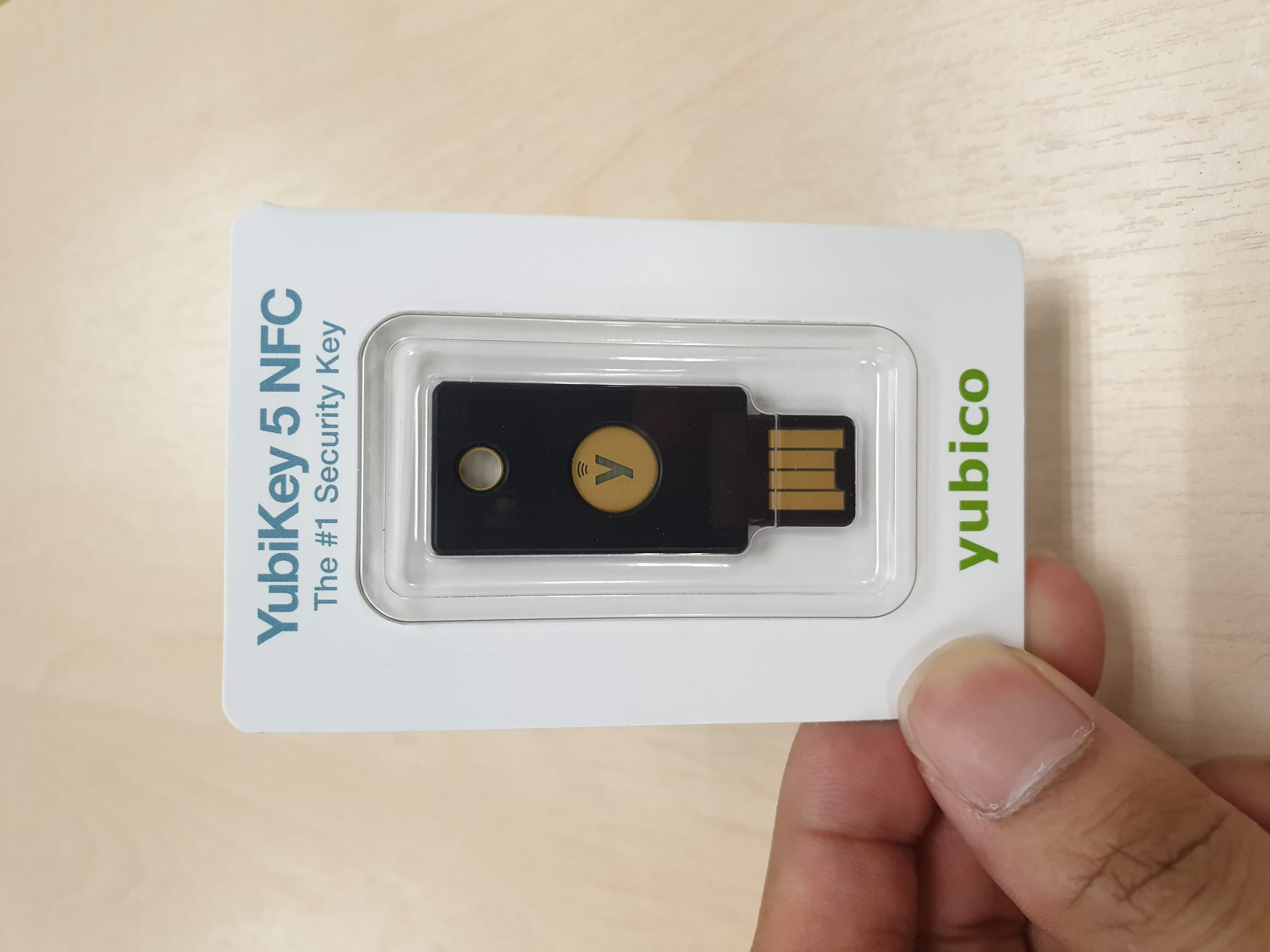 Yubikey 5 NFC Package Front