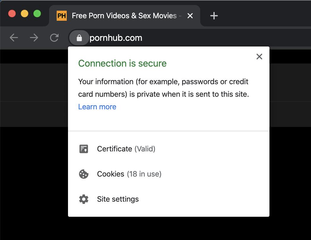 Pornhub Certificate