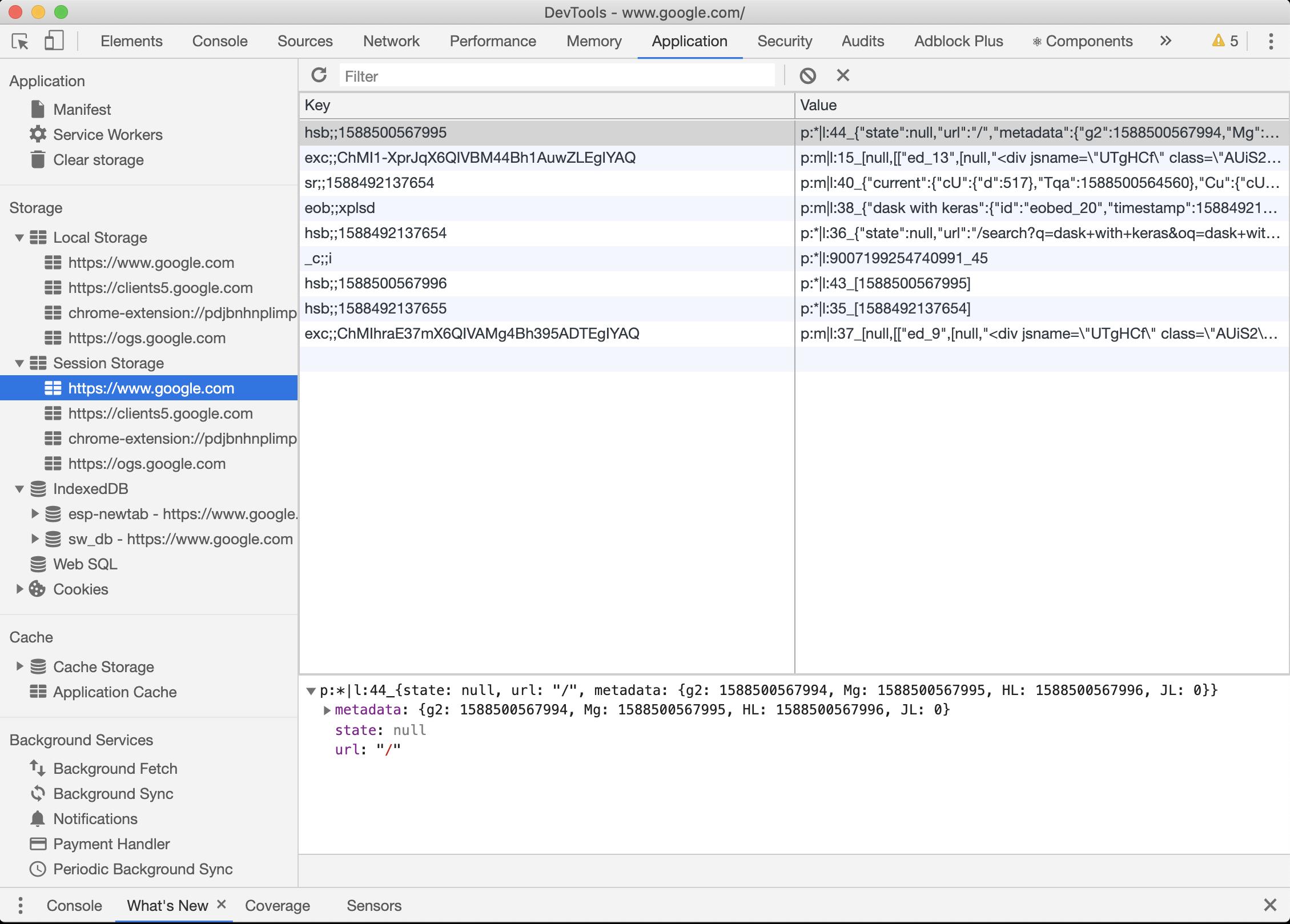 Google Chrome Dev Tool
