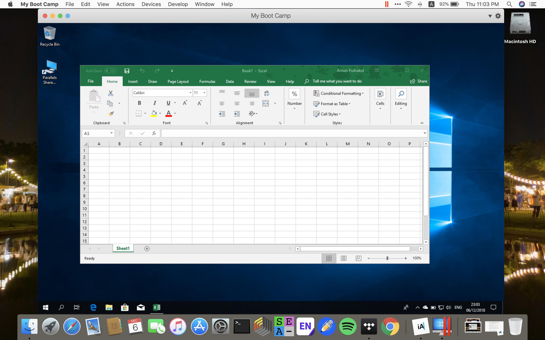 Windows 10 Virtual Machine by using Parallel Desktop