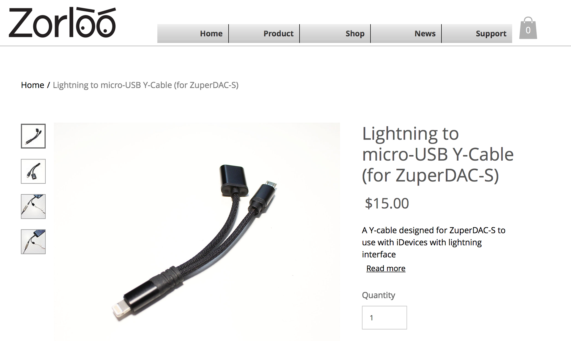 Zorloo Micro-USB to Lighting