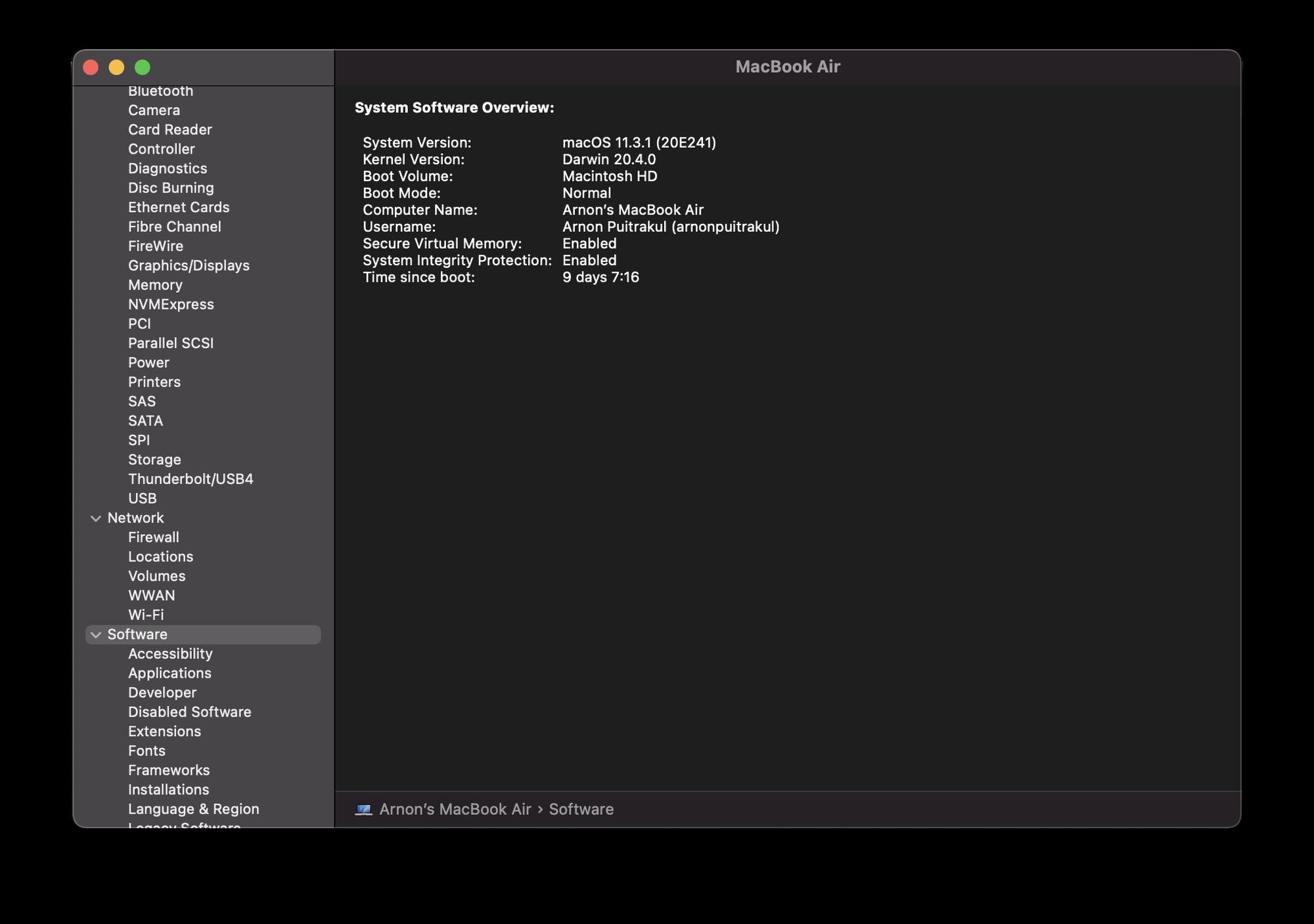 macOS Uptime Profiler