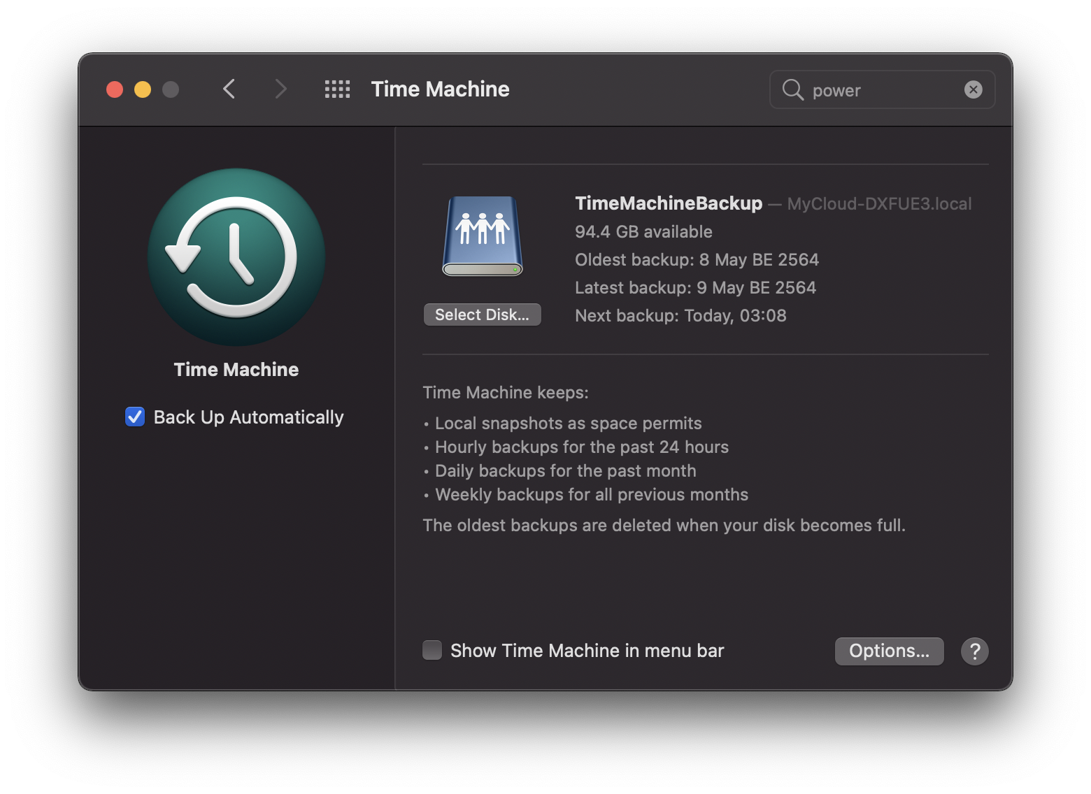 macOS Time Machine
