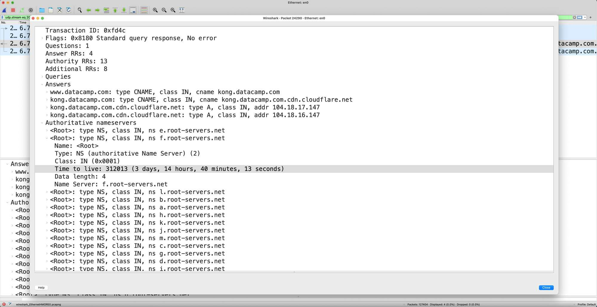 Wireshark DNS Packet Tracing